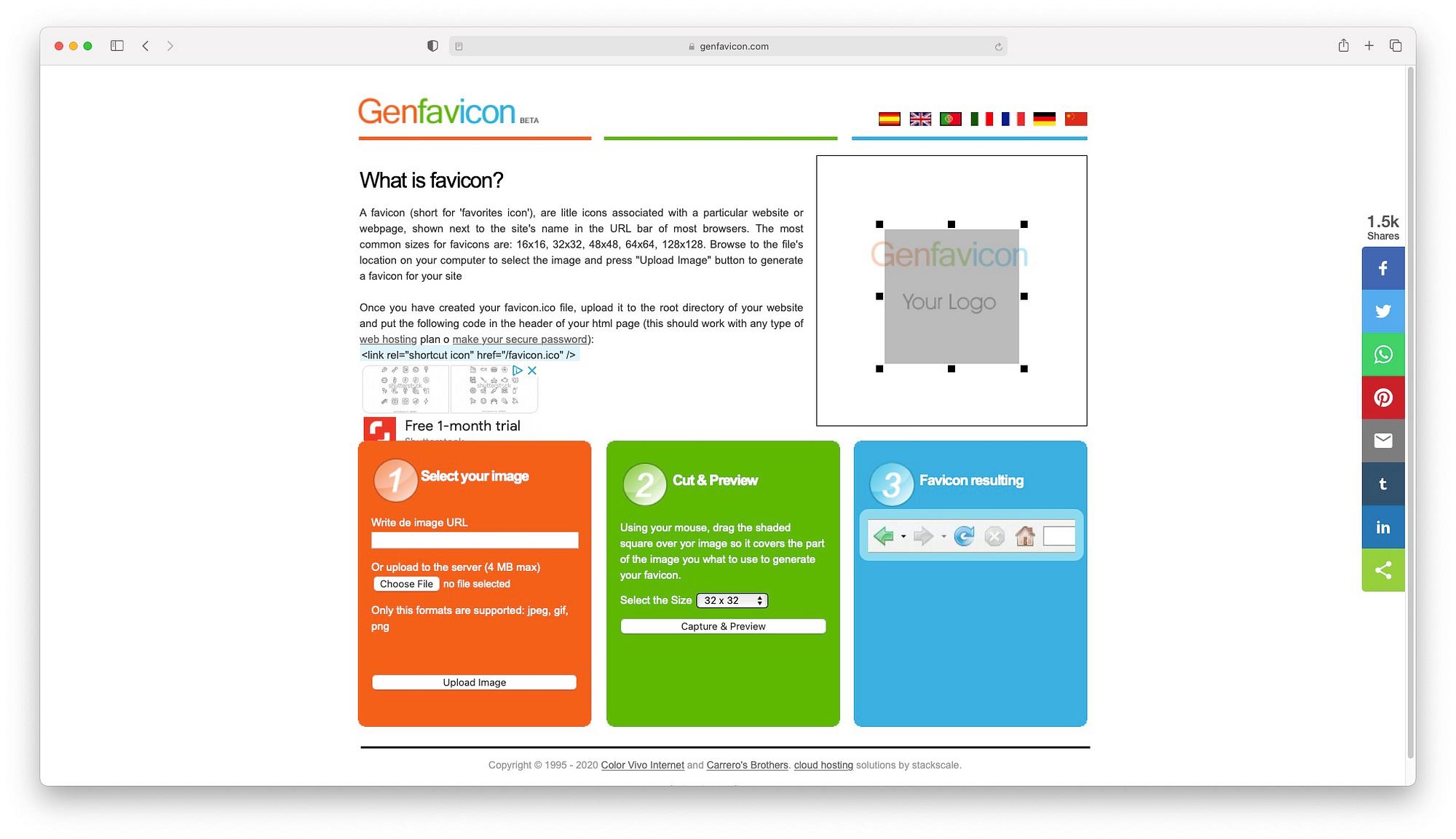 Genfavicon是最好的免费网站图标生成器之一