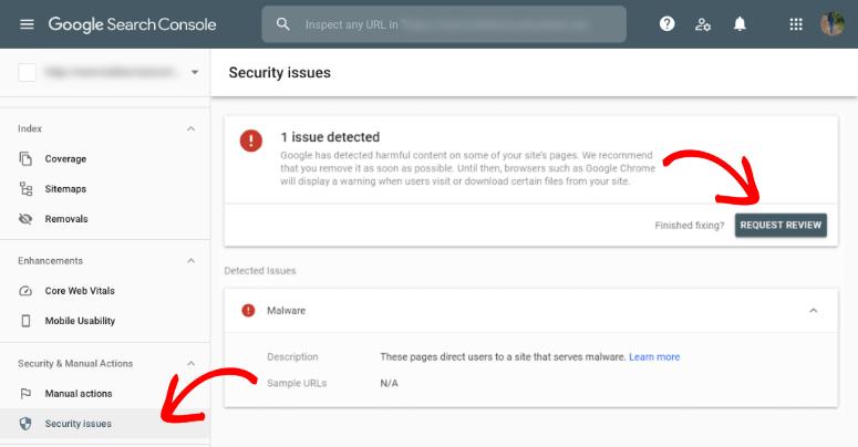 Google黑名单请求审核gsc
