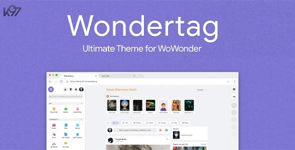 Wondertag v2.2.1 –终极WoWonder主题
