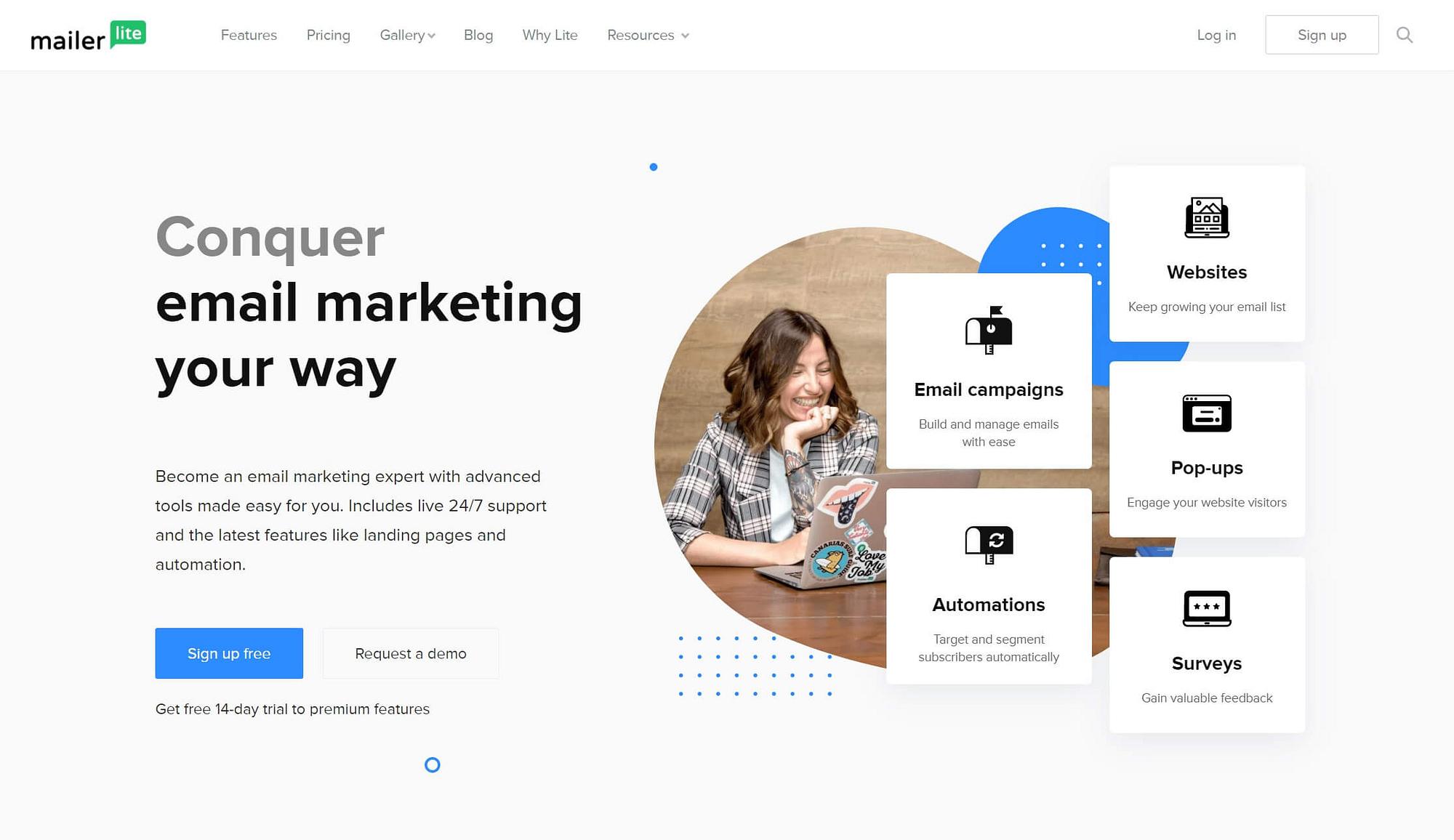 MailerLite电子邮件营销工具。