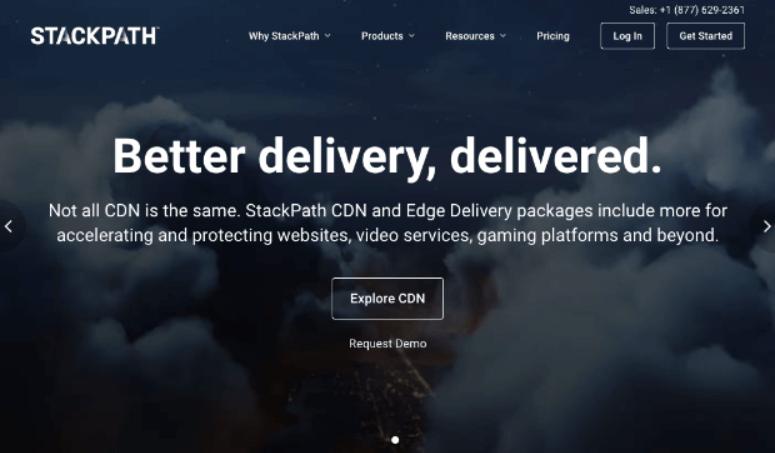 StackPath主页