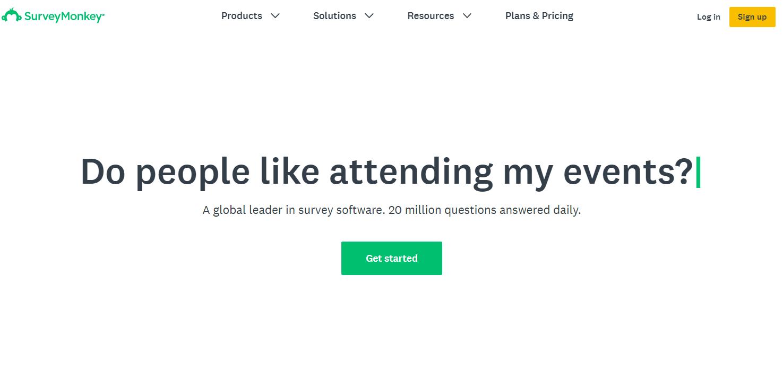 Survey Monkey是带有调查构建器的可靠的Google Forms替代方案。