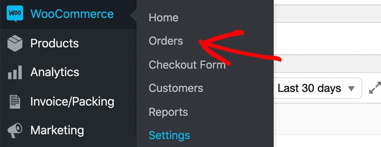 WooCommerce订单