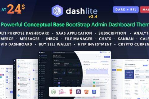 DashLite v2.4 – Bootstrap响应式管理仪表板模板