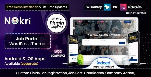 Nokri v1.4.4 – Job Board WordPress主题