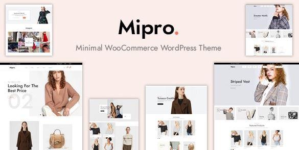 Mipro-最小的WooCommerce WordPress主题