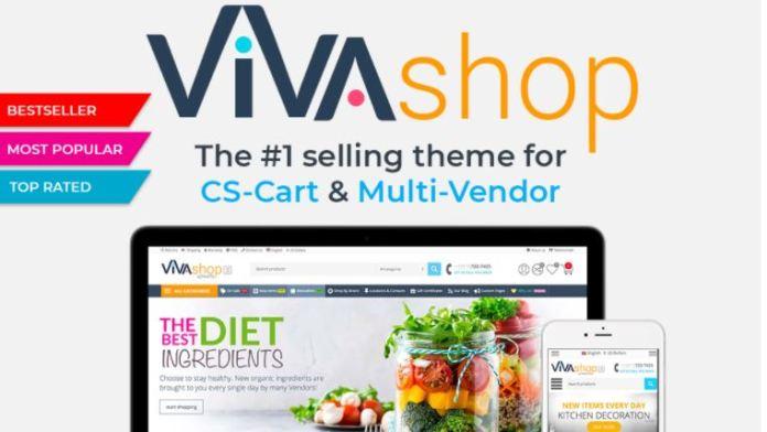VIVAshop-CS-Cart和多供应商的第一大销售主题