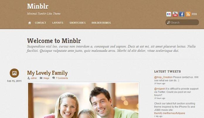 Themify Minblr WordPress主题