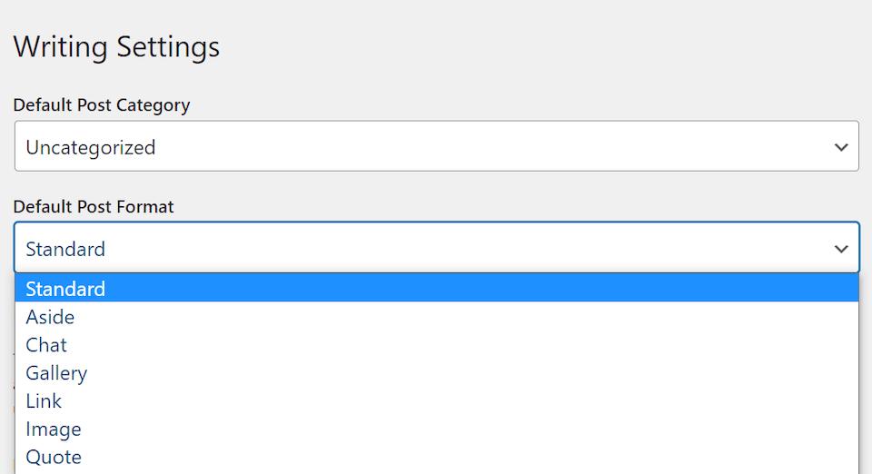 如何配置您的WordPress写作设置1如何配置WordPress写作设置