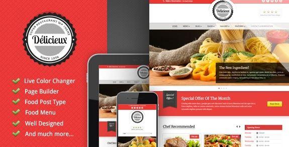 Delicieux-餐厅WordPress主题