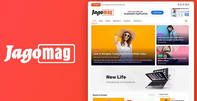 Jagomag-最佳杂志Blogger模板