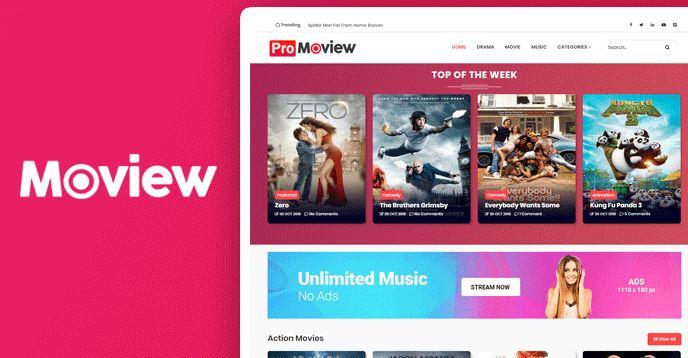 Moview-专业电影Blogger模板