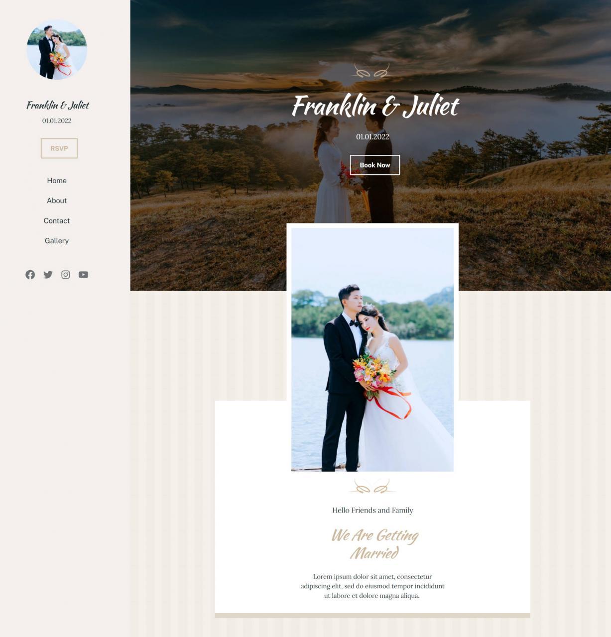用block-editor-2重新创建经典的婚礼wordpress-主题主页-使用块编辑器重新创建经典的婚礼WordPress主题主页