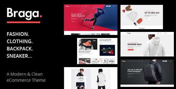 Braga-WooCommerce WordPress的时尚主题