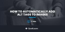 自动向图像添加ALT标签