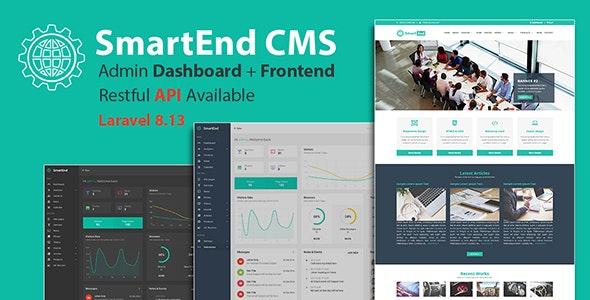 SmartEnd CMS v8.3.0 –具有前端和Restful API的Laravel管理仪表板