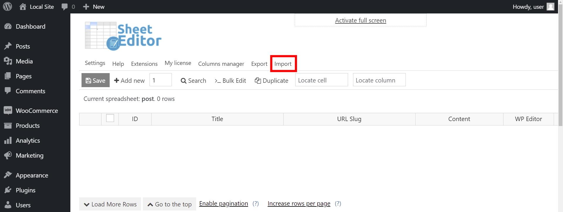 WordPress的进口职位