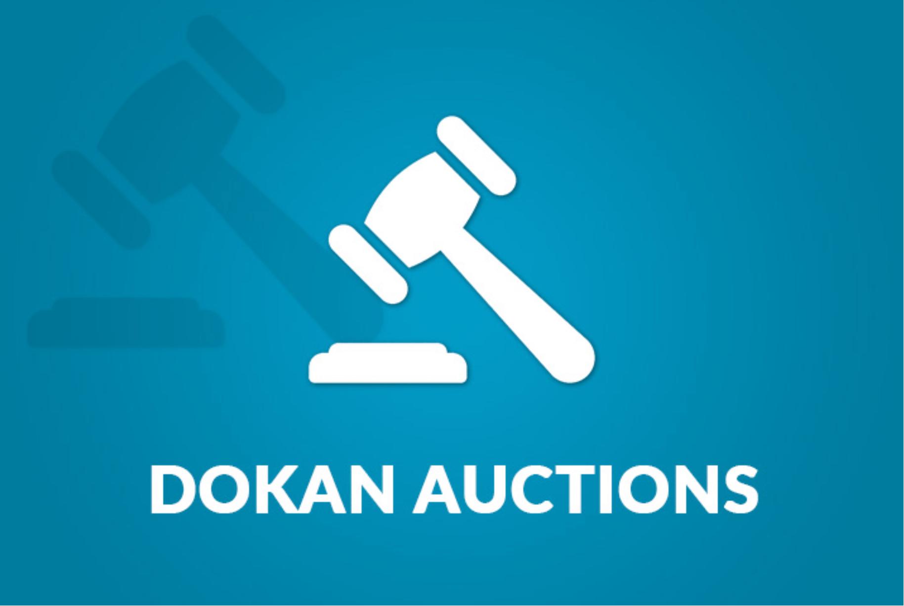 Dokan Simple Auctions插件横幅。