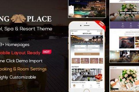 KingPlace v1.2.4 –酒店预订,水疗和度假WordPress主题