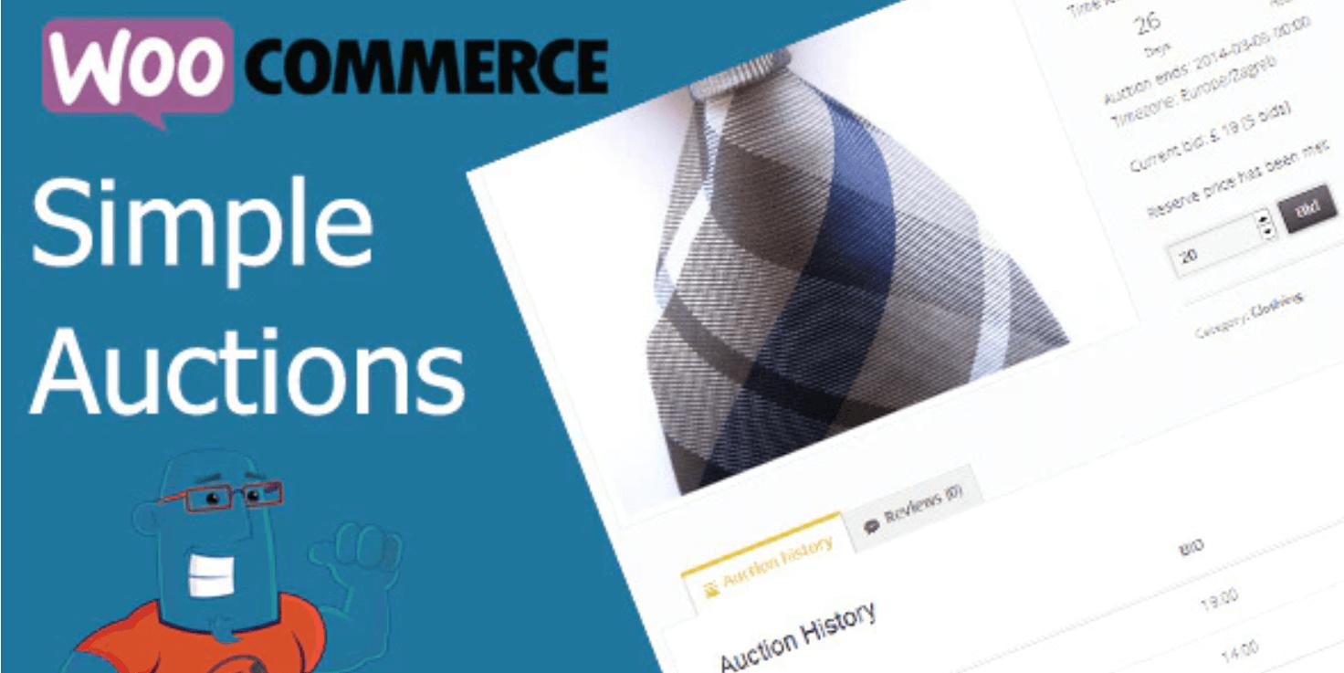 WooCommerce Simple Auctions插件的横幅。
