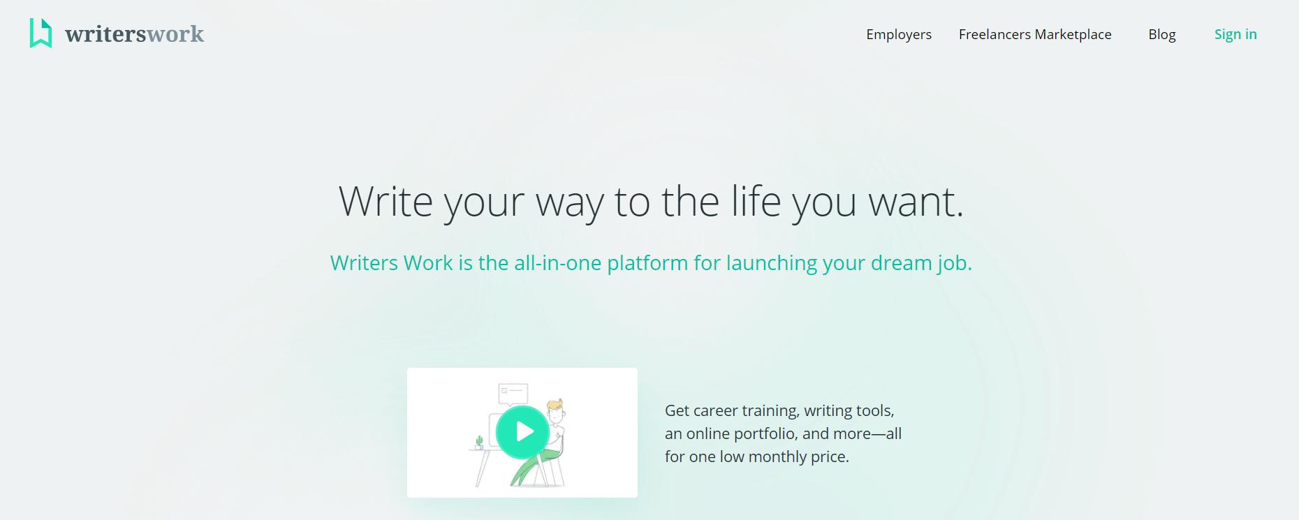 Writers Work是寻找自由内容营销工作的平台。