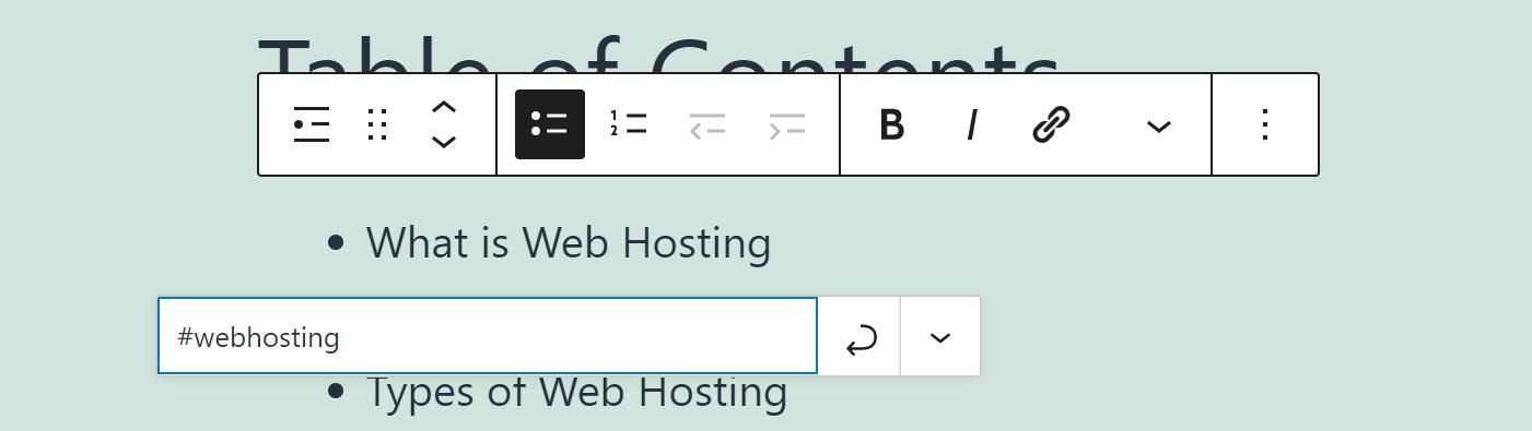 添加HTML锚链接