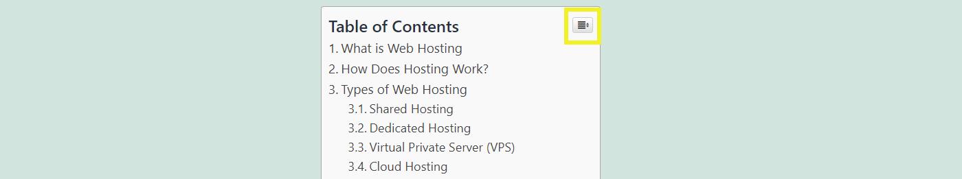 WordPress目录中的折叠按钮