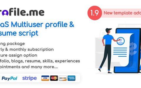 Profile.me v1.9 – Saas多用户配置文件和恢复脚本