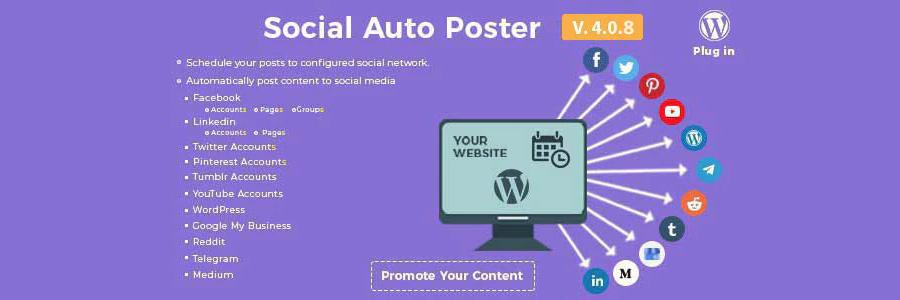 社交自动海报-WordPress插件