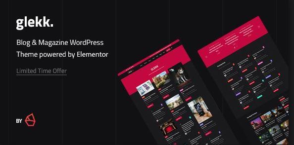 Glekk-Elementor博客和雜誌WordPress主題