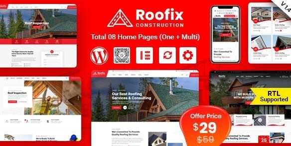 Roofix-屋面服務WordPress主題