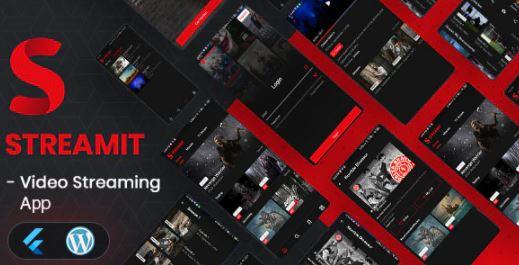 Streamit-Flutter完整的应用程序,可通过WordPress后端进行视频流传输