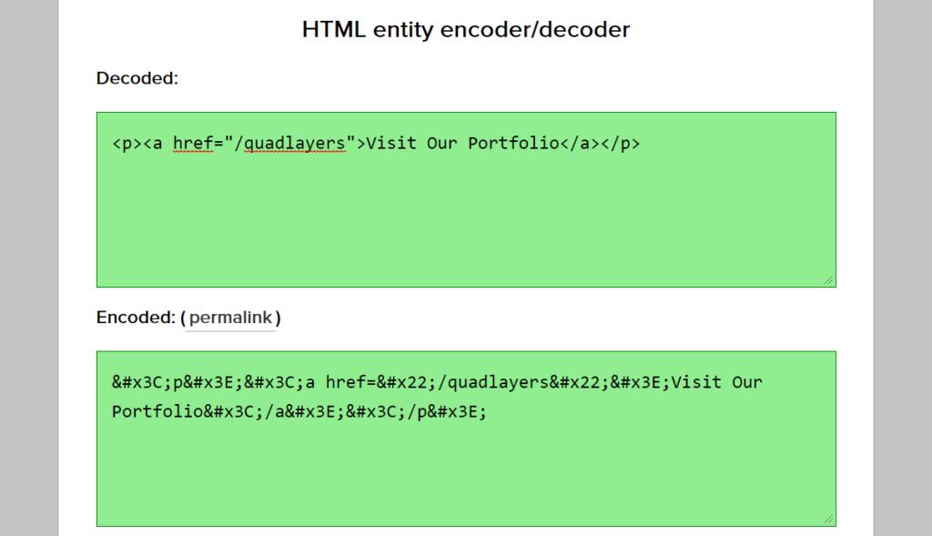 HTML编码器