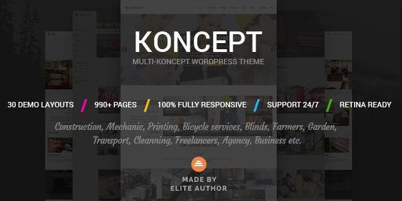 Koncept-响应式多概念WordPress主题