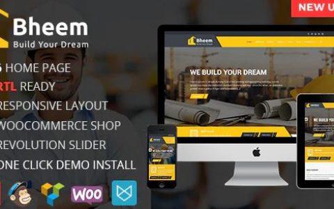 Bheem v1.0.0:具有RTL就绪的建筑业局WordPress主题