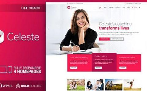 Celeste –生活教練和治療師WordPress主題