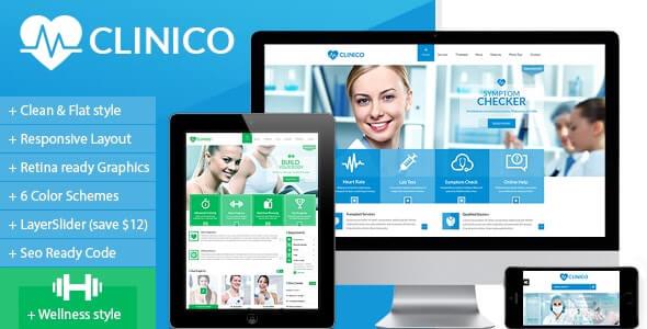 Clinico Medical HTML模板