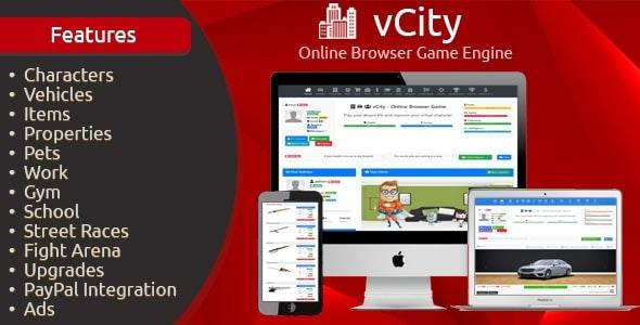 vCity v2.2.1 –在线浏览器游戏平台