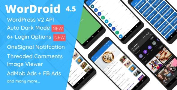 WorDroid v4.5 –适用于Android的完整本机WordPress博客应用程序
