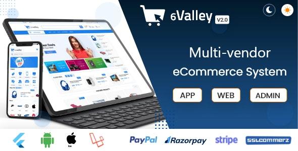 "valley多供应商电子商务–完整的电子商务移动应用,Web和管理面板v2.0"""