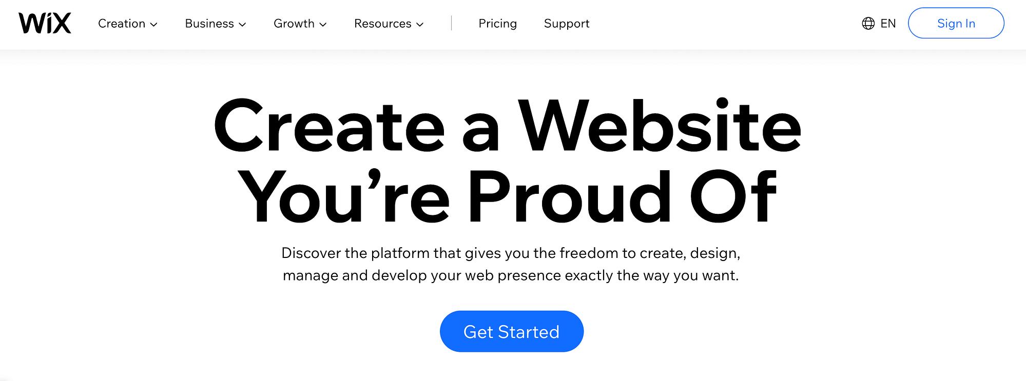 Wix网站构建器网站。