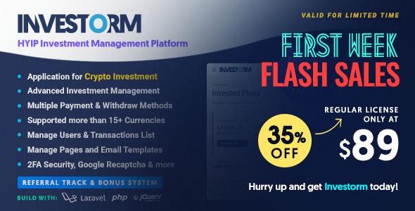 Investorm v1.1 – 先进的 HYIP 投资管理平台