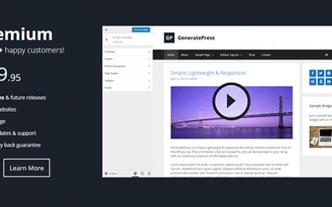 GeneratePress Premium v2.0.2 -WordPress 主题