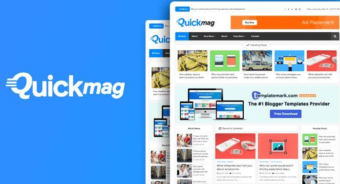 Quick Mag 雜誌博客模板