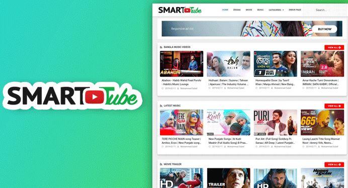 Smart Tube - 視頻博客模板