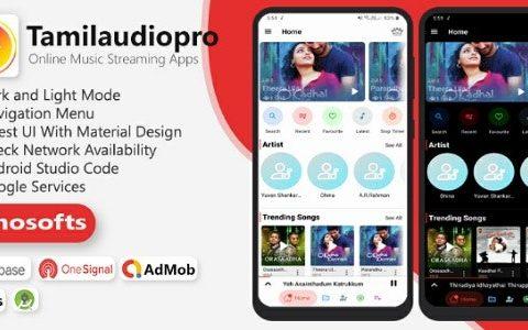 Tamilaudiopro – 在线音乐流媒体应用