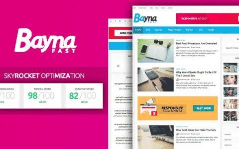 Bayna Fast – 高速优化的博客模板