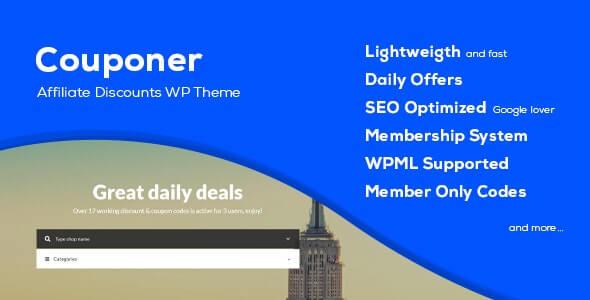 WordPress的优惠券优惠券主题
