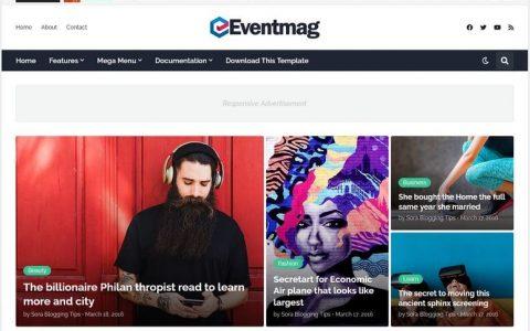 EventMag 博客模板