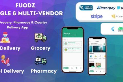 Fuodz v1.2.3 – 杂货、食品、药房快递应用 + 后端 + 司机和供应商应用